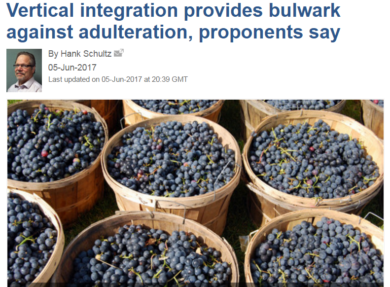 Polyphenolics vertical integration article