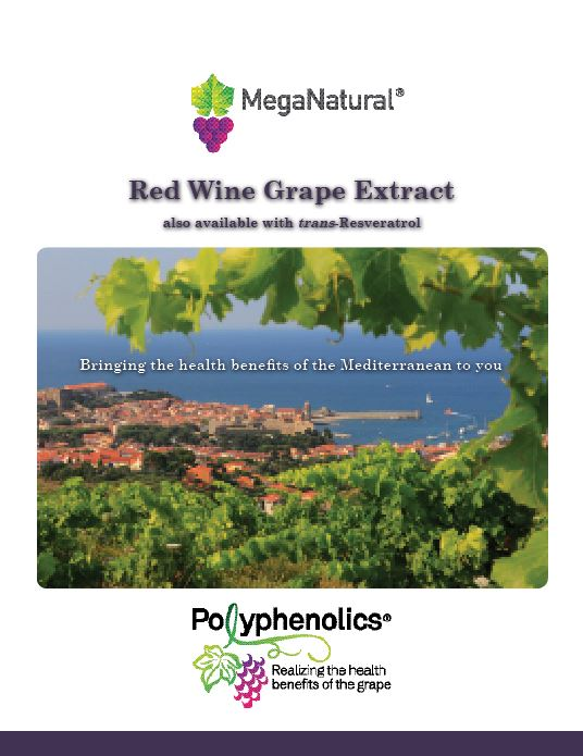 MegaNatural<sup>&reg;</sup> Red Wine Grape Extract with trans-Resveratrol
