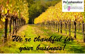 Polyphenolics expresses our gratitude and thanks