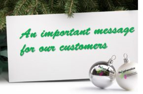 An important holiday message from Polyphenolics